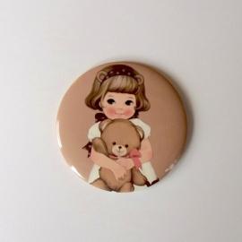 handspiegeltje paper doll - bruin