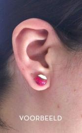 oorbellen gemarmerd rond