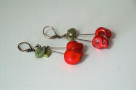 cherry skull earrings