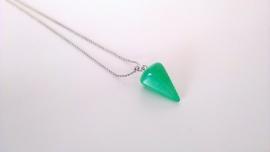 pegeltje aan mijn hals - groene jade