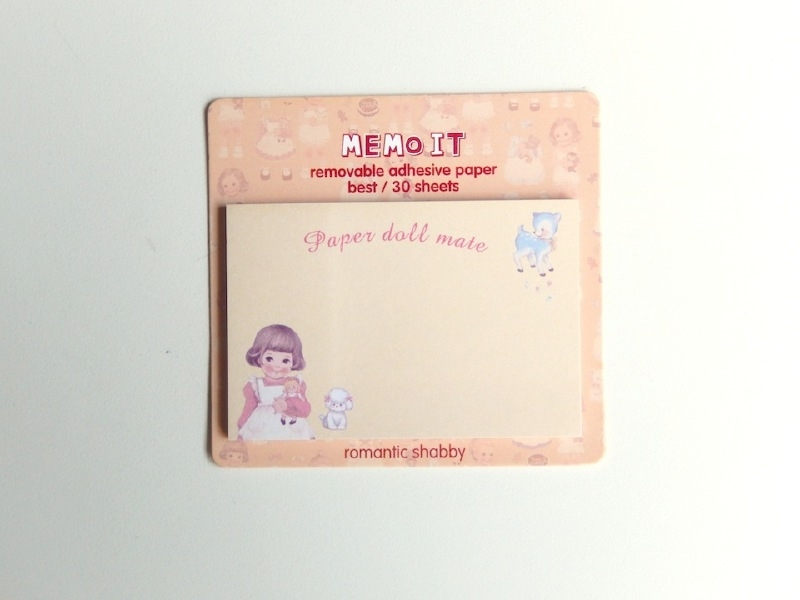 post-its paper doll - geel