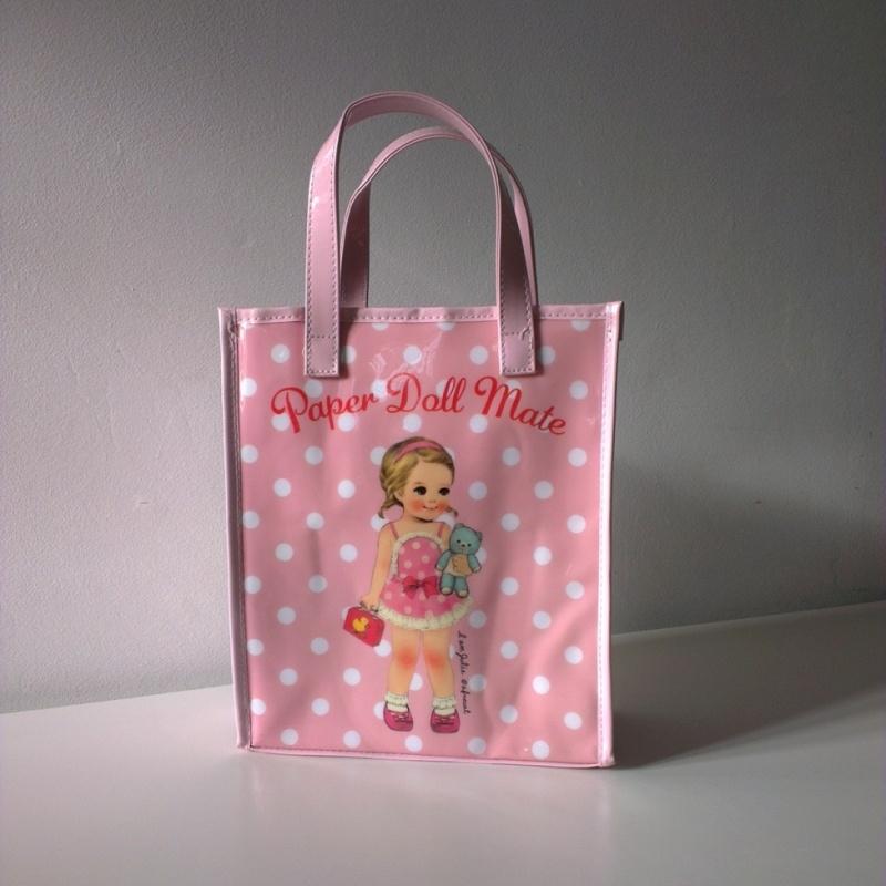 draagtas paper doll - roze