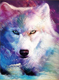 "Diamond painting ""Fantasy wolf"""