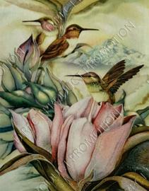 """Diamond painting """"Hummingbirds"""""""