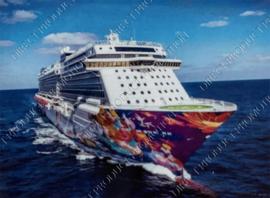 "Diamond painting ""Cruise boat"""