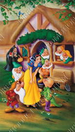 "Diamond painting ""Snowwhite and the seven dwarfs"""