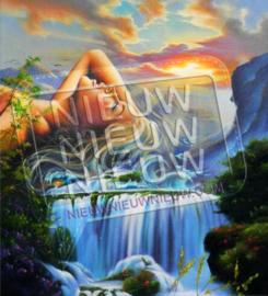 """Diamond painting """"Hair waterfall"""""""