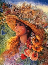 "Diamond painting ""Flower girl"""