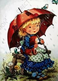 "Diamond painting ""Child under umbrella"""