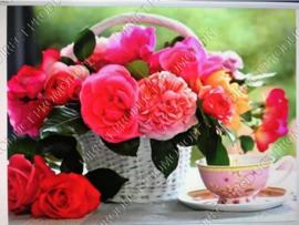 """Diamond painting """"Flowers in basket"""""""