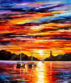 "Diamond painting ""Sunset"""