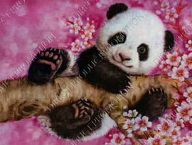 """Diamond painting """"Panda cub"""""""