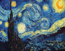 "Diamond painting ""The Starry Night by Van Gogh"""