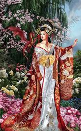 "Diamond painting ""Geisha with dragon"""