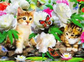 "Diamond painting ""Two kittens"""