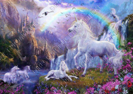 "Diamond painting ""Unicorn family"""