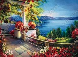 "Diamond painting ""View of a lake"""