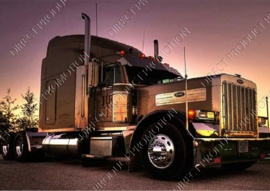 "Diamond painting ""Black American truck"""