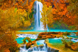 "Diamond painting ""Waterfall"""