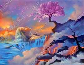 "Diamond painting ""Woman in fantasy landscape"""
