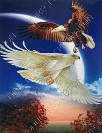"""Diamond painting """"White and brown eagle"""""""