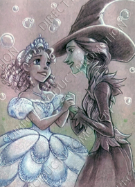 "Diamond painting ""Princess and witch"""