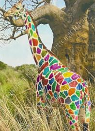 """Diamond Painting """"Colorful giraffe"""""""