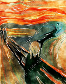 "Diamond painting ""The Scream by Edvard Munch"""