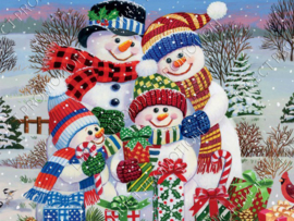 "Diamond painting ""Snowmen family"""