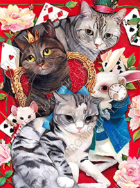 "Diamond painting ""Cats and poker"""
