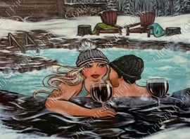"""Diamond painting """"Fat lady in jacuzzi"""""""
