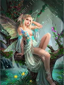 "Diamond painting ""Forest elf"""