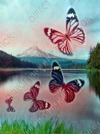 "Diamond painting ""Four butterflies"""
