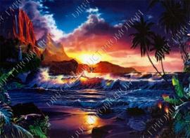 "Diamond painting ""Sunset by the sea"""