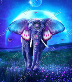 "Diamond painting ""Moon elephant"""