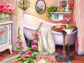 "Diamond painting ""Bathroom"""
