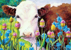 "Diamond painting ""Brown cow"""