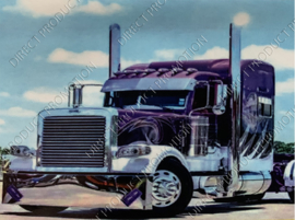 "Diamond painting ""Purple American truck"""