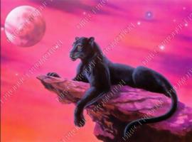 """Diamond painting """"Black panther"""""""