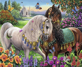 "Diamond painting ""Andalusian horses"""