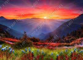 "Diamond painting ""Sunset in mountains"""