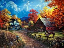 "Diamond painting ""Farm village"""