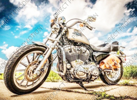 "Diamond painting ""Harley motorbike"""