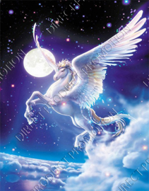 "Diamond painting ""White flying horse"""