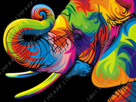 "Diamond painting ""Colorful elephant"""