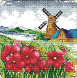 "Diamond painting ""Gristmill"""