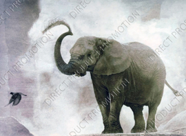 "Diamond painting ""Squirting elephant"""