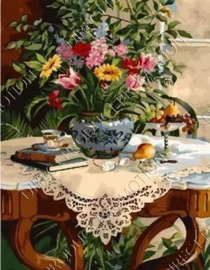 "Diamond painting ""Flowers on the table"""