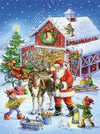 "Diamond painting ""Santa and elves"""