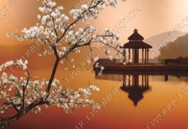 """Diamond painting """"Tea house on the lake"""""""